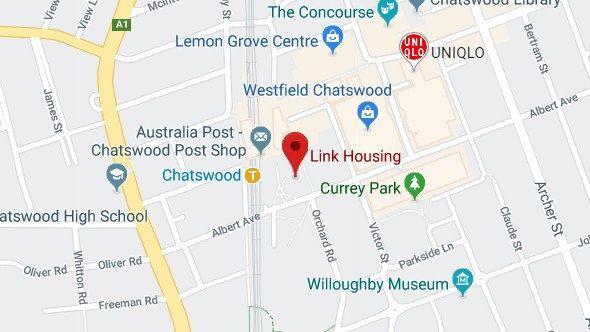 google maps location of link housing office in chatswood